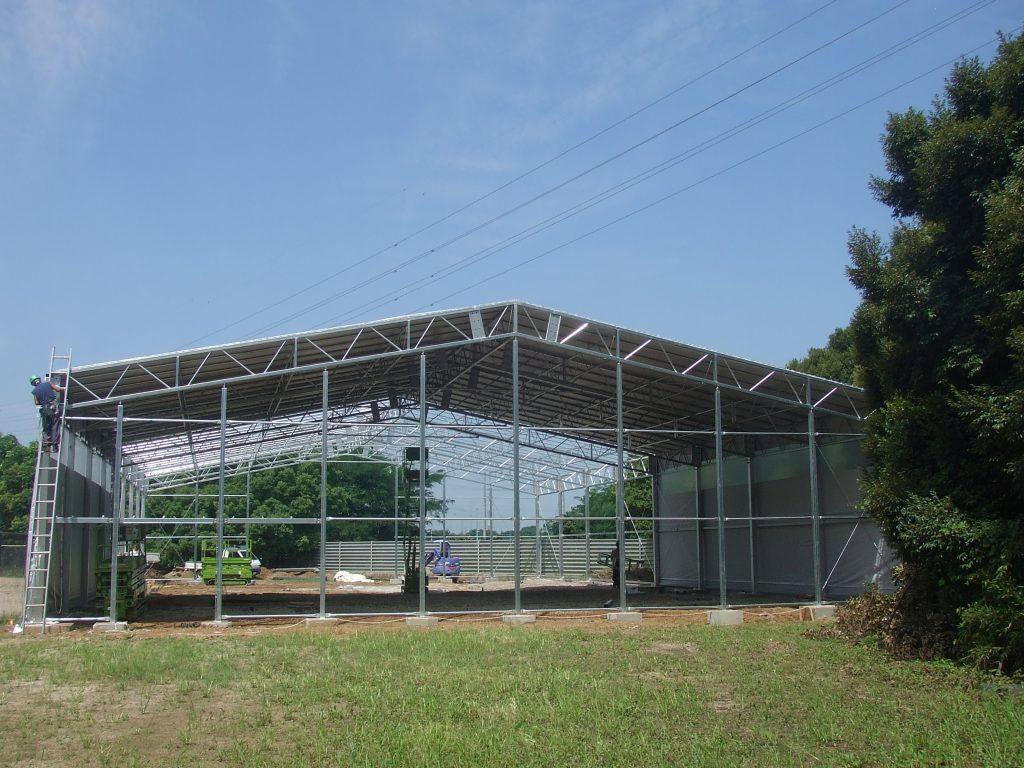 室内野球練習場の施工写真2