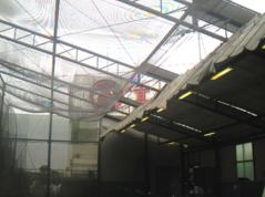 ゴルフ練習場の施工写真2