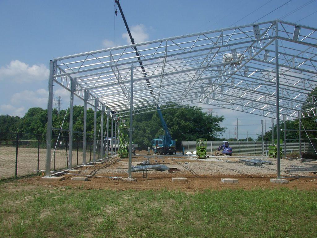 室内野球練習場の施工写真1