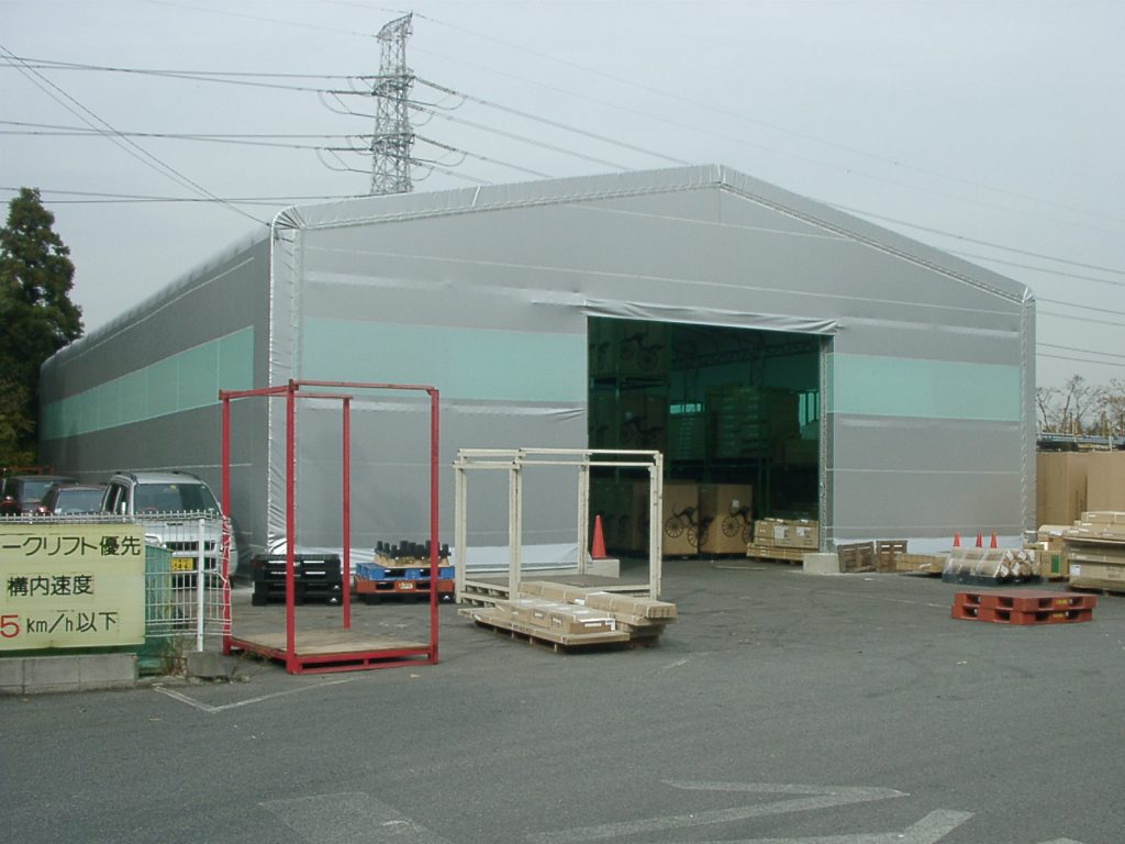 テント倉庫T-14の施工写真0