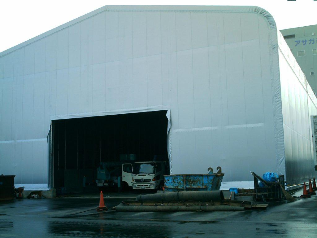 テント倉庫T-16の施工写真0