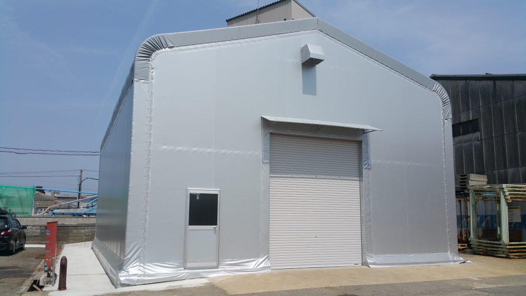 テント倉庫T-13の施工写真0