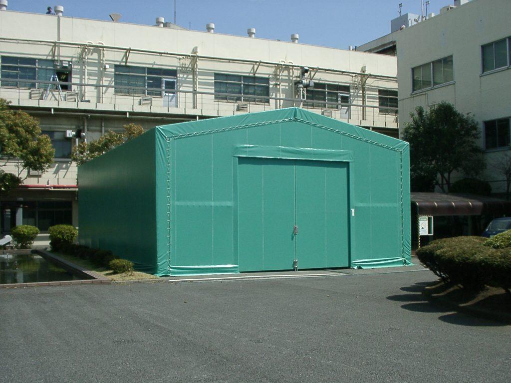 テント倉庫T-1の施工写真0