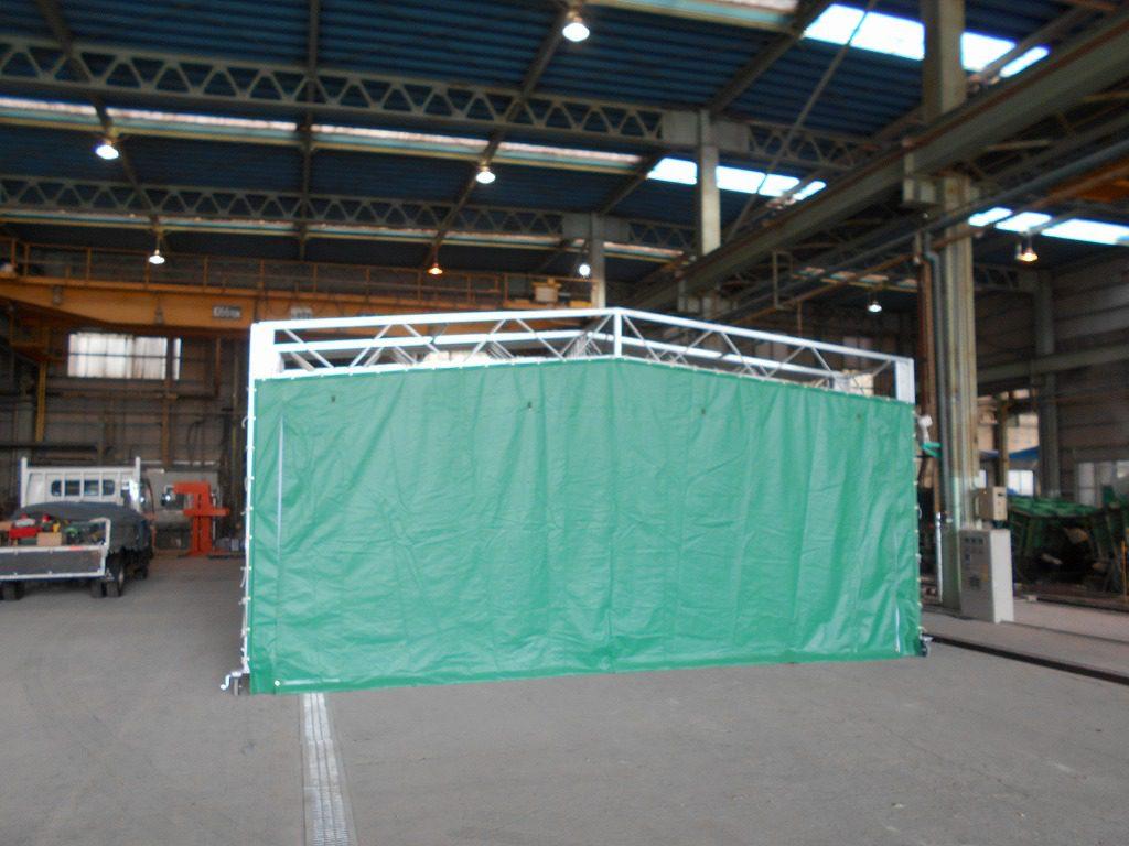 ジャバラハウスJ-4の施工写真1