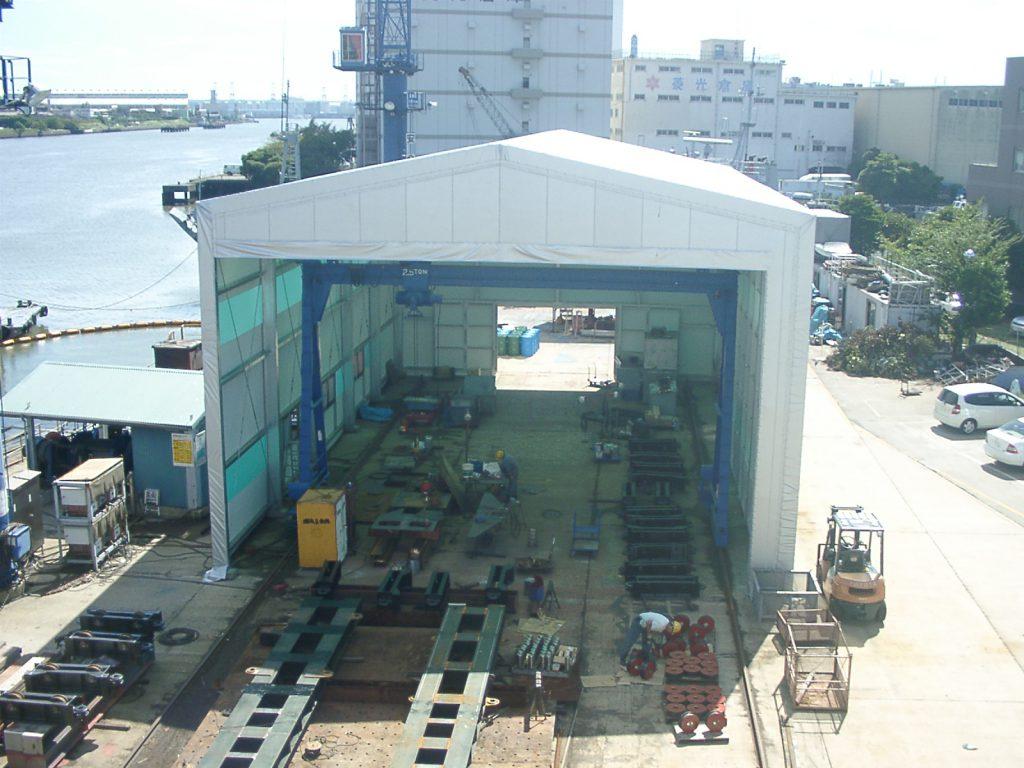 テント倉庫T-2の施工写真0