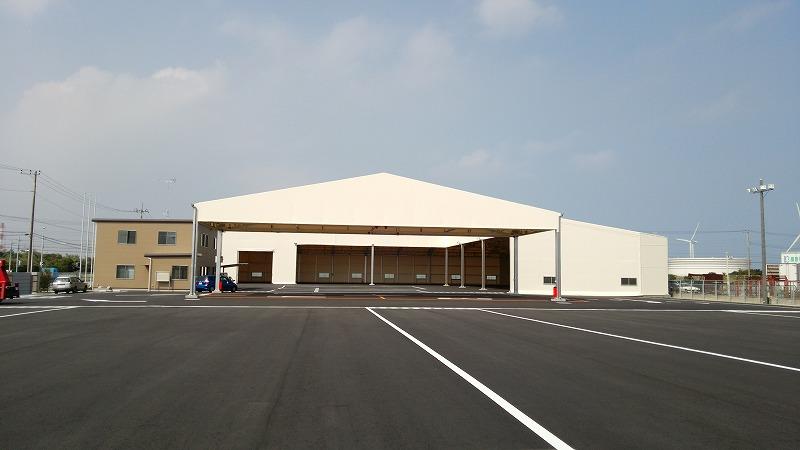 荷捌場テントN-6の施工写真9