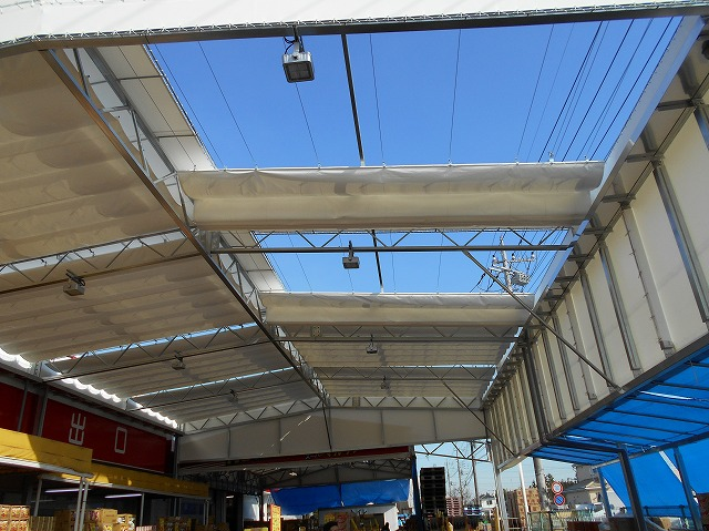 開閉式テントK-6の施工写真0