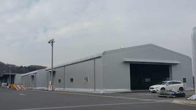 テント倉庫T-3の施工写真2