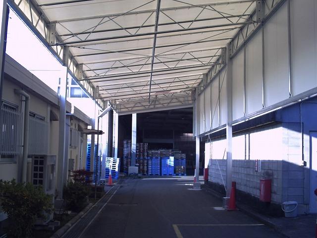 荷捌場テントN-5の施工写真0