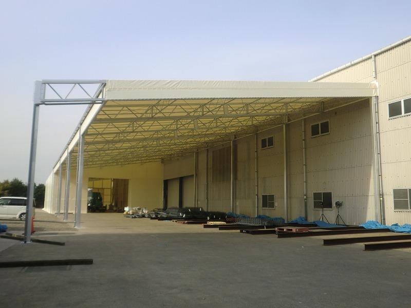 荷捌場テントN-6の施工写真0