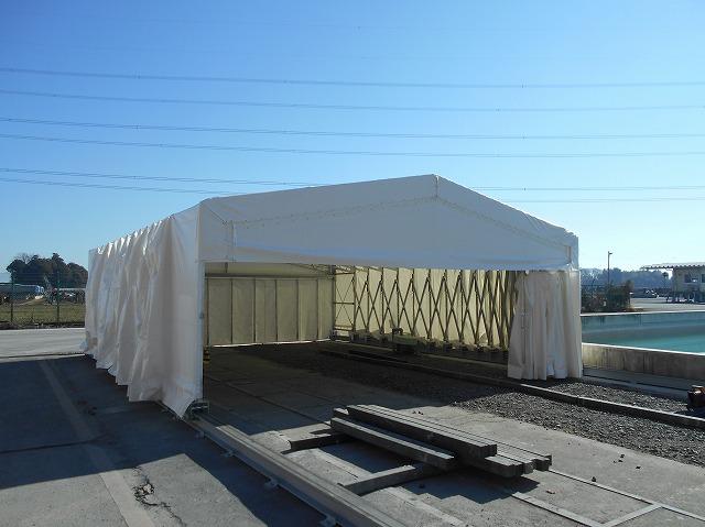 ジャバラハウスJ-3の施工写真1