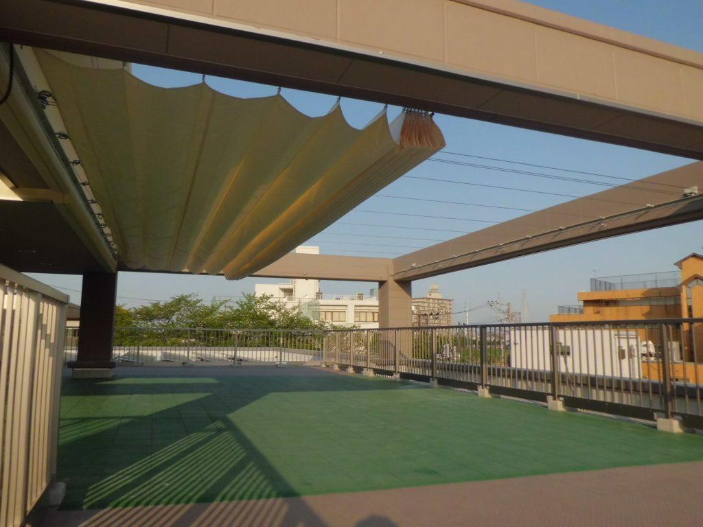 開閉式テントK-4の施工写真2