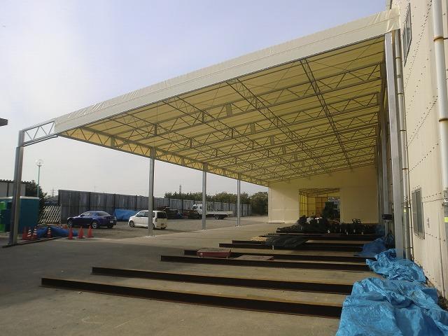 荷捌場テントN-4の施工写真0