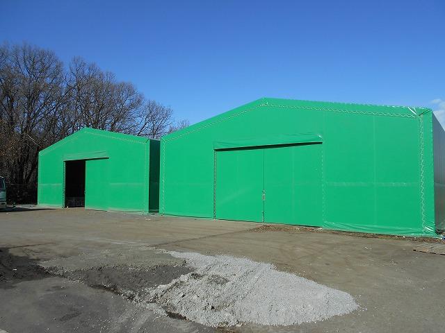 テント倉庫T-15の施工写真0