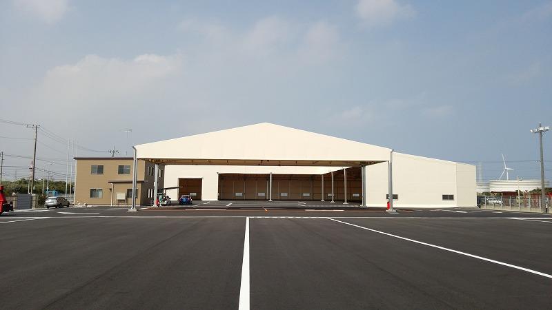 荷捌場テントN-6の施工写真10
