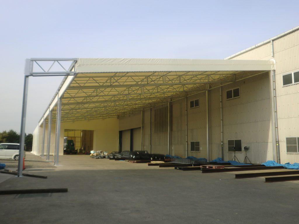 荷捌場テントN-3の施工写真0