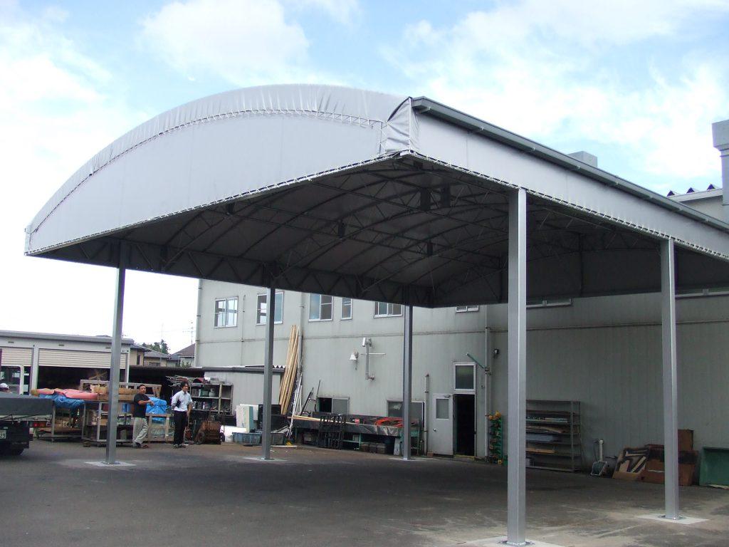 荷捌場テントN-8の施工写真0