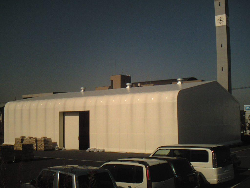 テント倉庫T-4の施工写真0