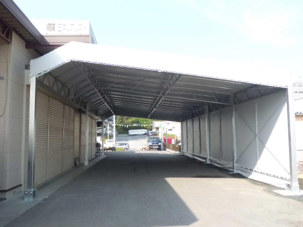 荷捌場テントN-7の施工写真0