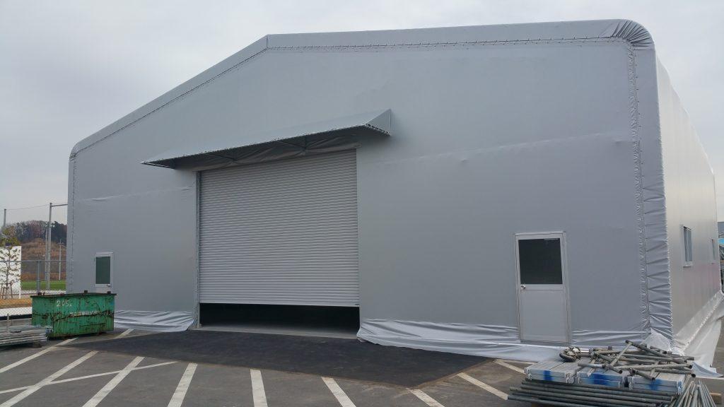 テント倉庫T-12の施工写真0