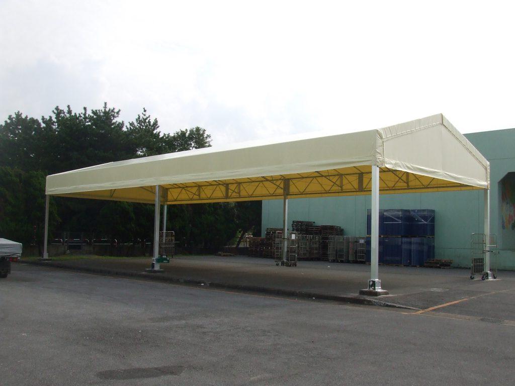 荷捌場テントN-9の施工写真0